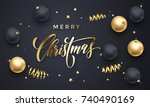 merry christmas greeting card... | Shutterstock .eps vector #740490169