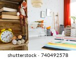 close up of plush fox and... | Shutterstock . vector #740492578