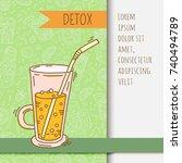 background with glassware jar... | Shutterstock .eps vector #740494789