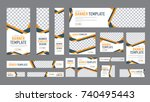 set of web banners of standard... | Shutterstock .eps vector #740495443