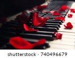 Rose Petals On Piano Keys