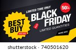 black friday sale banner layout ... | Shutterstock .eps vector #740501620