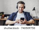young smiling caucasian man...   Shutterstock . vector #740509750