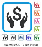 money care hands icon. flat...
