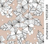 seamless floral pattern .... | Shutterstock .eps vector #740518168