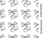 christmas bells. vector... | Shutterstock .eps vector #740519050