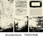 grunge textures and overlays | Shutterstock .eps vector #74051968