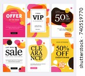 black friday sale banners. set... | Shutterstock .eps vector #740519770
