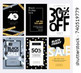 black friday sale banners. set... | Shutterstock .eps vector #740519779