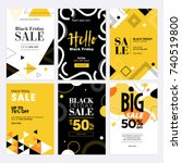 black friday sale banners. set... | Shutterstock .eps vector #740519800