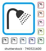 shower icon. flat gray...