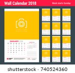 vector calendar planner... | Shutterstock .eps vector #740524360