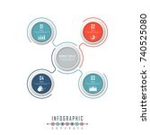 vector timeline infographics... | Shutterstock .eps vector #740525080
