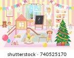 kindergarten vector... | Shutterstock .eps vector #740525170