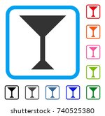 wine glass icon. flat gray...
