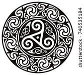 round celtic design. celtic... | Shutterstock .eps vector #740535184