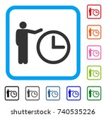 time show icon. flat grey...