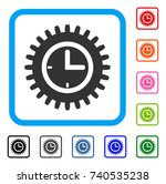 time options icon. flat gray...