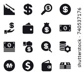 16 vector icon set   crisis ... | Shutterstock .eps vector #740537176