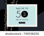 vector design for sale web... | Shutterstock .eps vector #740538250