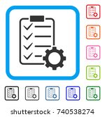 smart contract gear icon. flat... | Shutterstock .eps vector #740538274