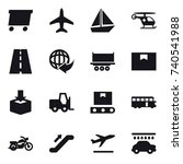 16 vector icon set   delivery ... | Shutterstock .eps vector #740541988
