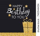 abstract happy birthday... | Shutterstock .eps vector #740544454
