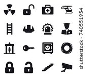 16 vector icon set   nuclear ... | Shutterstock .eps vector #740551954