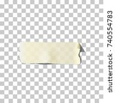 masking or adhesive tape piece. ... | Shutterstock .eps vector #740554783