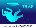 business trap design horizontal ... | Shutterstock .eps vector #740555383