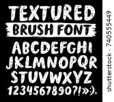 hand drawn brush ink vector abc ... | Shutterstock .eps vector #740555449