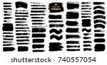 brush strokes set. paintbrush... | Shutterstock .eps vector #740557054