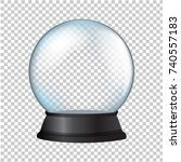 snow globe isolated in... | Shutterstock . vector #740557183
