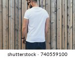 summer day. back view. young... | Shutterstock . vector #740559100