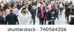 large crowd of anonymous people ... | Shutterstock . vector #740564206