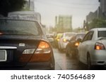 Traffic Jam In The Rush Hour