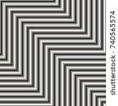 vector geometric zigzag lines... | Shutterstock .eps vector #740565574