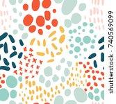 confetti seamless pattern.... | Shutterstock .eps vector #740569099