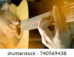 playing guitar | Shutterstock . vector #740569438