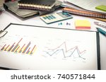 business finance  accounting ... | Shutterstock . vector #740571844
