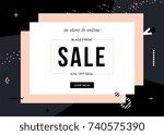 black friday sale design for... | Shutterstock .eps vector #740575390