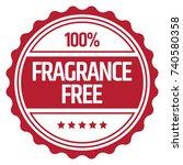 fragrance free stamp   Shutterstock .eps vector #740580358