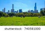 new york  usa   oct 1  2017 ... | Shutterstock . vector #740581000