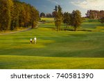 man with his son golfers...   Shutterstock . vector #740581390