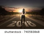 back view of businesswoman...   Shutterstock . vector #740583868