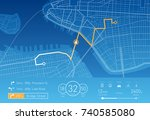 vector illustration of a custom ... | Shutterstock .eps vector #740585080