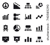 16 vector icon set   target... | Shutterstock .eps vector #740585290