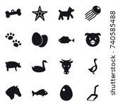 16 vector icon set   bone ... | Shutterstock .eps vector #740585488