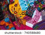mayan mexican handcrafts... | Shutterstock . vector #740588680