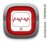 cardiograph icon | Shutterstock .eps vector #740589610